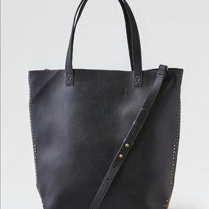 American Eagle gray/tan shoulder tote bag